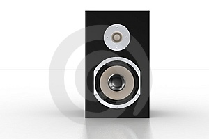 Simple Black Loudspeaker 2 Royalty Free Stock Images - Image: 5209659