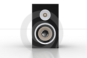 Simple Black Loudspeaker 3 Stock Photo - Image: 5209730
