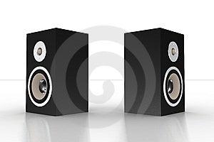 Simple Black Loudspeaker 4 Royalty Free Stock Image - Image: 5209746