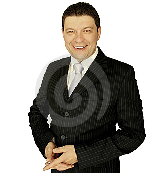 Businessman smiling Royalty Free Stock Photography