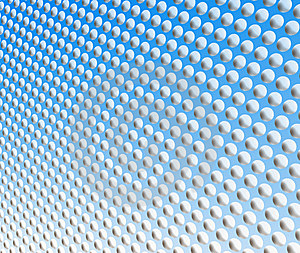 White Spots On Blue Royalty Free Stock Photography - Image: 5212677