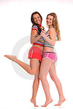 Rainbow girls Stock Image