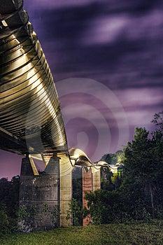 桥梁在新加坡: 汉德尔逊通知 库存照片 - 图片: 5222493