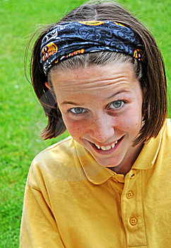Girl Giving Cheeky Smile Royalty Free Stock Images - Image: 5224989