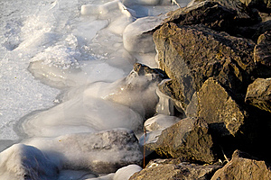 Frozen Rock Royalty Free Stock Photos - Image: 5225318