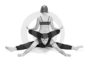 Yoga for Two - Series Stock Photo