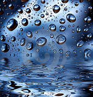 Water droplets Royalty Free Stock Photography