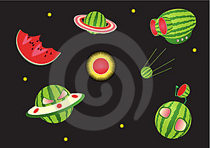 Melon Space Royalty Free Stock Photography - Image: 5232667