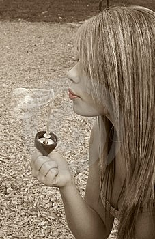 Blowing Bubbles Royalty Free Stock Photo - Image: 5232965