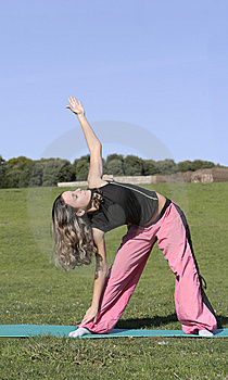 Woman Stretching Stock Image - Image: 5237051