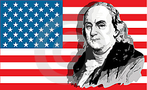 Retrato De Benjamin Franklin Fotografia de Stock - Imagem: 5239582