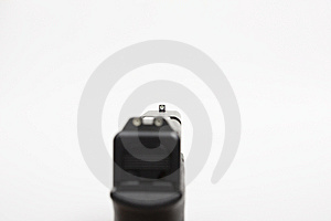 Front Sight Of A Handgun Stock Photo - Image: 5242660