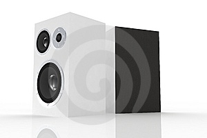 Two White Loudspeakers Royalty Free Stock Images - Image: 5248339