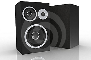 Two Black Loudspeakers Stock Photography - Image: 5248472