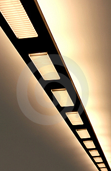 Lamps In Underground Royalty Free Stock Images - Image: 5250149