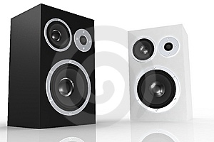 Black And White Loudspeakers Royalty Free Stock Photo - Image: 5250345