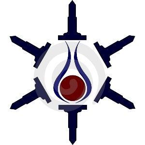 Logotipo Imagenes de archivo - Imagen: 5252484