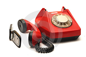 Red Telephone Royalty Free Stock Image - Image: 5252746