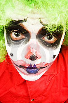 Spooky Clown Royalty Free Stock Photo - Image: 5256755