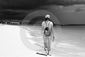 Walking To The Darkness Stock Image - Image: 5261661