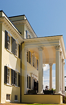 Mansion Porch With Columns Royalty Free Stock Images - Image: 5267249