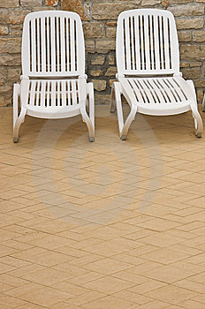 Plastic White Chairs Royalty Free Stock Photo - Image: 5268575