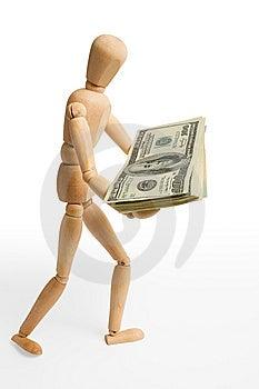 Figure,dollars,two Stock Photo - Image: 5270220