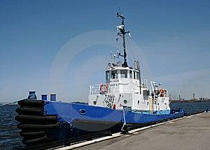 Blue Tugboat Stock Photos - Image: 5271873