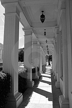 The Lane Of Columns Stock Image - Image: 5276191