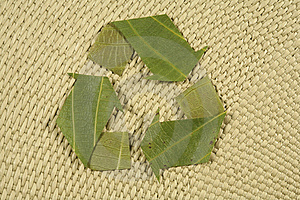 Recycling Symbol Made From Leaves Royalty Free Stock Photography - Image: 5279857