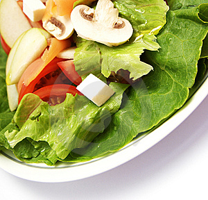 Salad With Salmon Stock Images - Image: 5281694