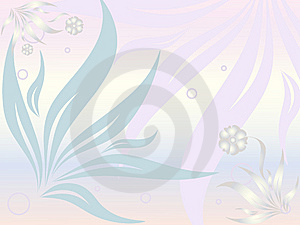 Abstract floral background in soft colors Stock Photos