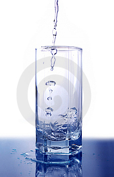 Water Poured Into Glass Stock Image - Image: 5281991