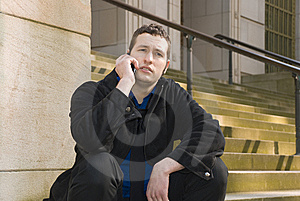 On The Phone Again Stock Images - Image: 5283084