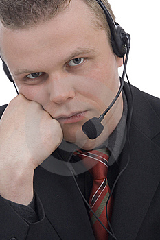 Bored Operator Stock Image - Image: 5286071