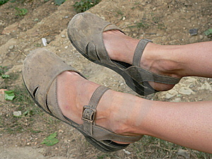 Travelling Feet Stock Photo - Image: 5286370