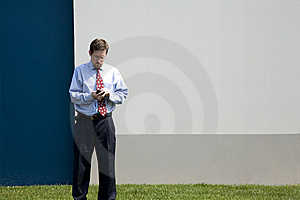 Professional Male At Work Outdoors Stock Photo - Image: 5291850