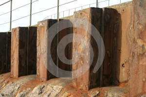 Rusty Coastal Defense Royalty Free Stock Photos - Image: 530028