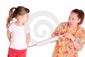 Nurse Gives Child A Shot Royalty Free Stock Photos - Image: 536738
