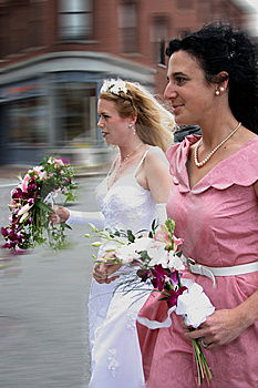 Running To The Wedding Stock Photos - Image: 5300223