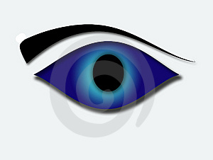 Blue Eye Stock Photo - Image: 5300350