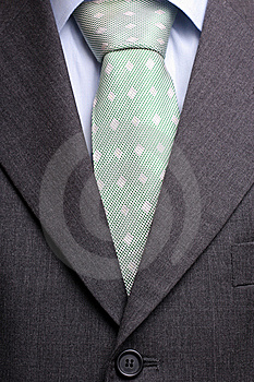 Detail of a suit and tie Stock Photos
