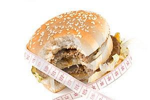 The Taken A Bite Hamburger Stock Images - Image: 5301274