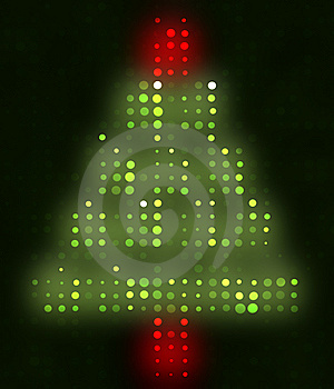 Christmas Tree Of Lights Royalty Free Stock Photos - Image: 5304698