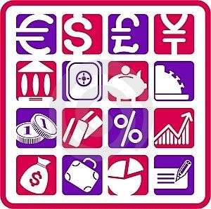 Money Icons Stock Photo - Image: 5311840