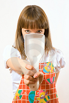 Young Girl Holding Spoon Stock Photography - Image: 5312202