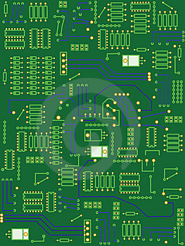 Electronic Circuit Board Stock Image - Image: 5313861