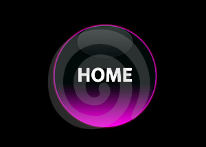 Pink Neon Button Home Stock Image - Image: 5315641