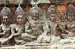Cambodia; Angkor; Leper King Terrace Stock Images - Image: 5316344