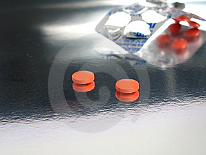 Packed Orange Medicines Stock Images - Image: 5317354